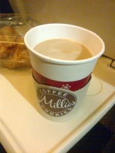 Latte at Millie's Cookies