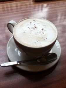 Fancy (White Cinnamon Mocha) at Books and Beans