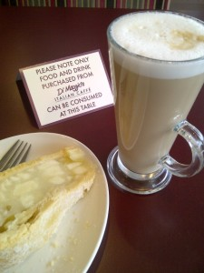 Latte (and apple pie) at Di Maggio's
