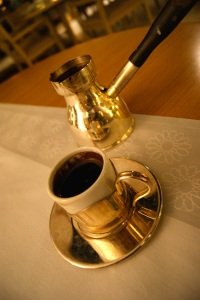 Turkish coffee at the Mijana restaurant, Abu Dhabi