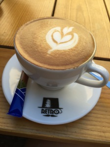 Flat White at Retro Cafe